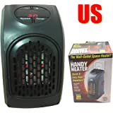 US Wonder Mini Plug In Handy Heater Portable Wall-Outlet Electric Heater Handy Air Heater Warm Air Blower Room Fan Electric Radiator War