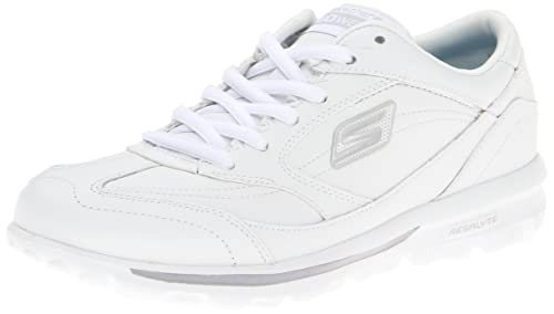 Skechers GO Walk One Step - Zapatillas de material sintético mujer, color blanco, talla 36: Amazon.es: Zapatos y complementos