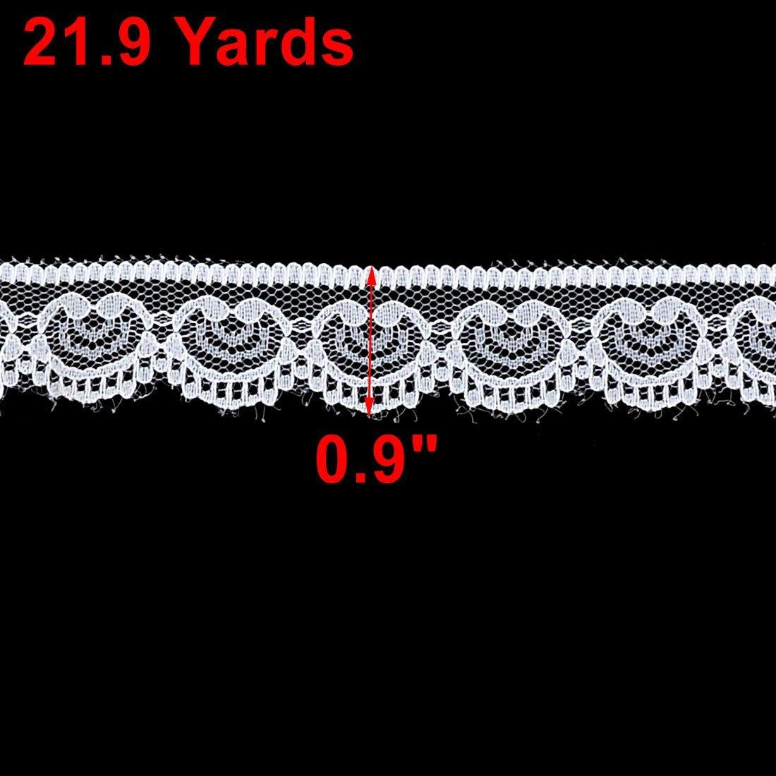 Amazon.com: eDealMax Partido poliéster arte de DIY Falda personalizada Con borde de Encaje apliques 21.9 yardas Blanca