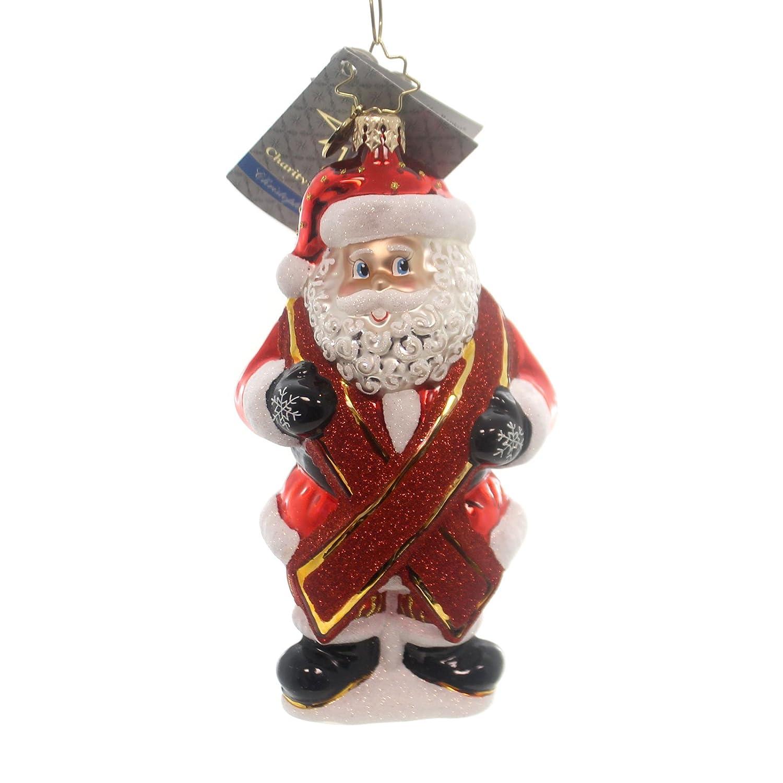 Christopher radko ornaments - Amazon Com Christopher Radko Charity Claus Aids Awareness Ornament Home Kitchen
