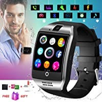 Smartwatch Android, Bluetooth Smart Watch, Smart Orologio Cellulare Android, Impermeabile Orologio Intelligente con Camera SIM Card Slot Per iPhone X XS XR 8 7 6 6s 5 ios Samsung Huawei Uomo Donna