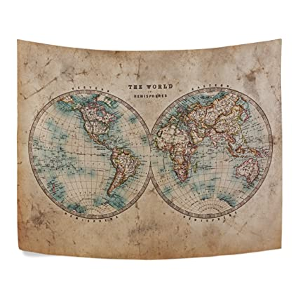 Amazon ALAZA A Genuine Old World Map The In Hemispheres
