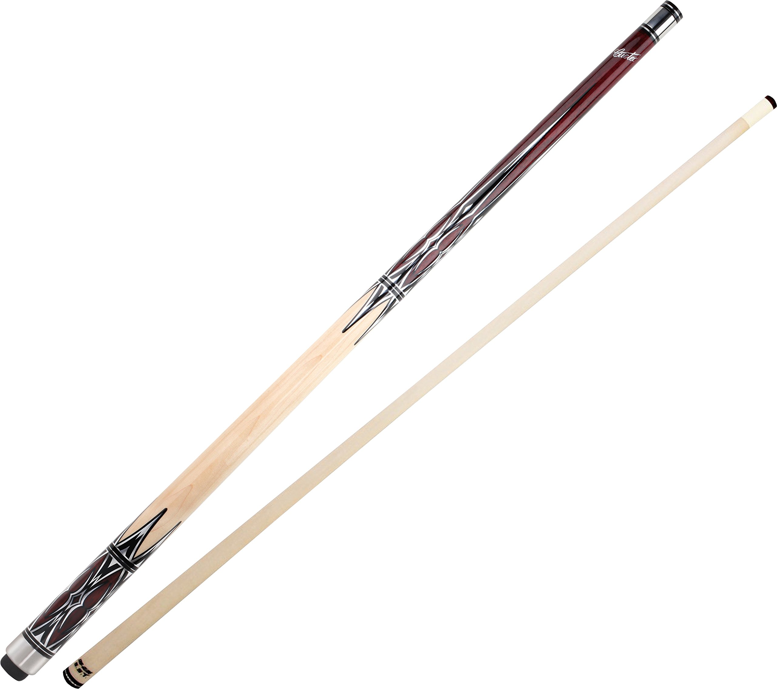 Cuetec Natural Series 58'' 2-Piece Canadian Maple Billiard/Pool Cue, Unwrapped, Brown Stain