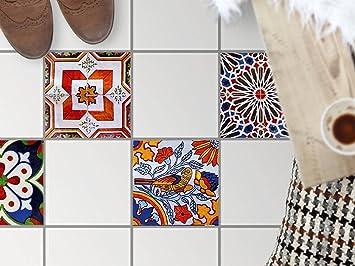 dekorfliesen designfolie | bodenfliesen-aufkleber folie sticker ... - Küche Renovieren Folie