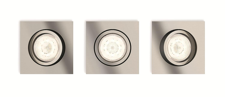 Philips myLiving LED Warmglow Einbauspot Shellbark, Shellbark, Shellbark, 3-flammig, rund, anthrazit 60e323