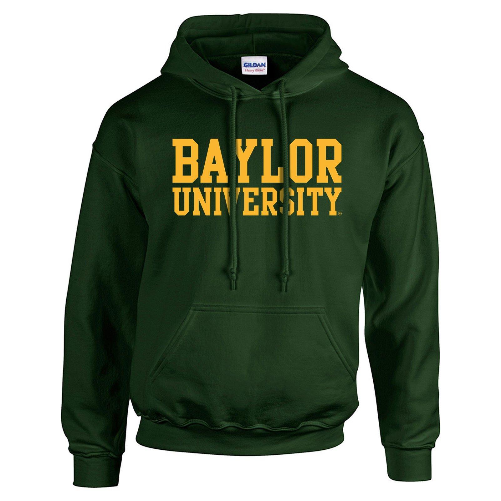 Baylor Bears Basic Block Hoodie - Medium - Forest Green