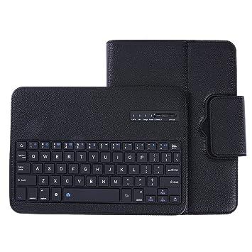 Funda de cuero con teclado Bluetooth + soporte para Samsung Galaxy Tab S3 T820: Amazon.es: Electrónica