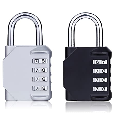 4 Piece COMBINATION PADLOCK SET Garage Bags Sports Lockers Tools Safety Luggage
