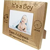 4 x 6 Inch ukgiftstoreonline Personalised Baby Girl Wooden Photo Frame Gift Ten Little Fingers