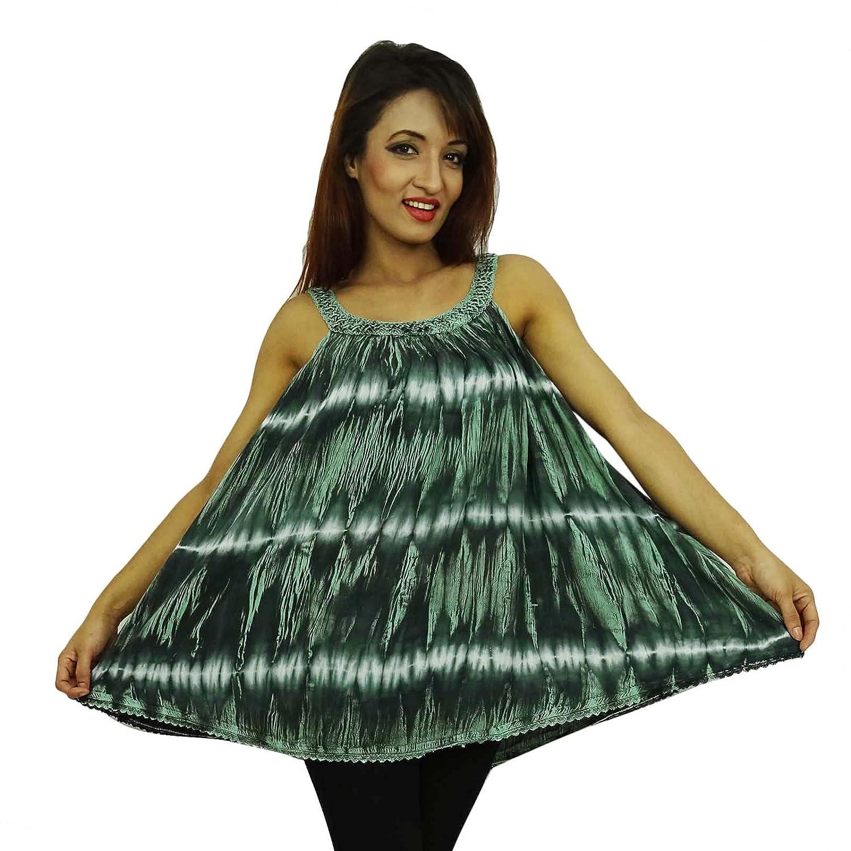 Indische Sommerkleid Frauen Boho Hippie Top-Sommer-beiläufige Tunika Wear