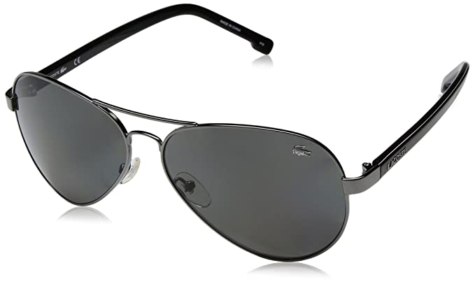 Lacoste L163SP 033 62 Gafas de Sol, Gunmetal, Hombre: Amazon ...