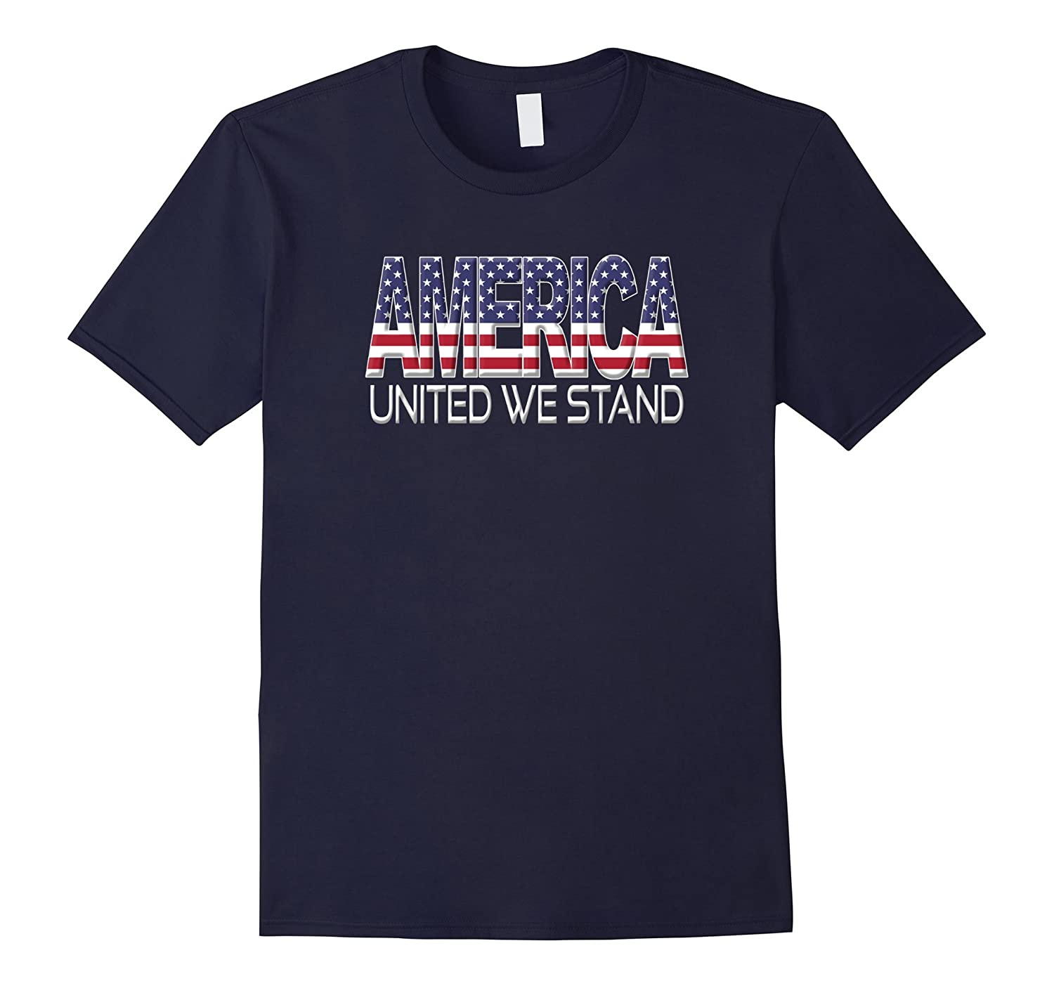 America United We Stand USA Flag National Anthem Tshirt-T-Shirt