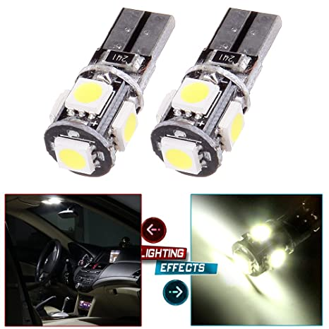 cciyu 2 x Blanco 5-SMD error free Parking párpado luces T10 T15 158 921