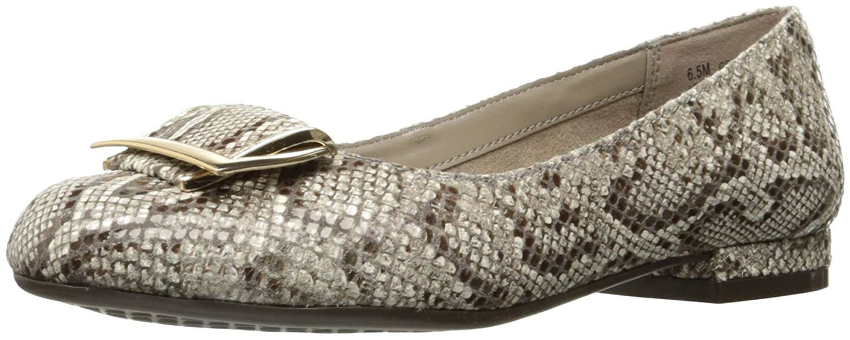 Aerosoles Women's Good Times Slip-On Loafer B01MSE5WJ0 11 B(M) US Bone Snake