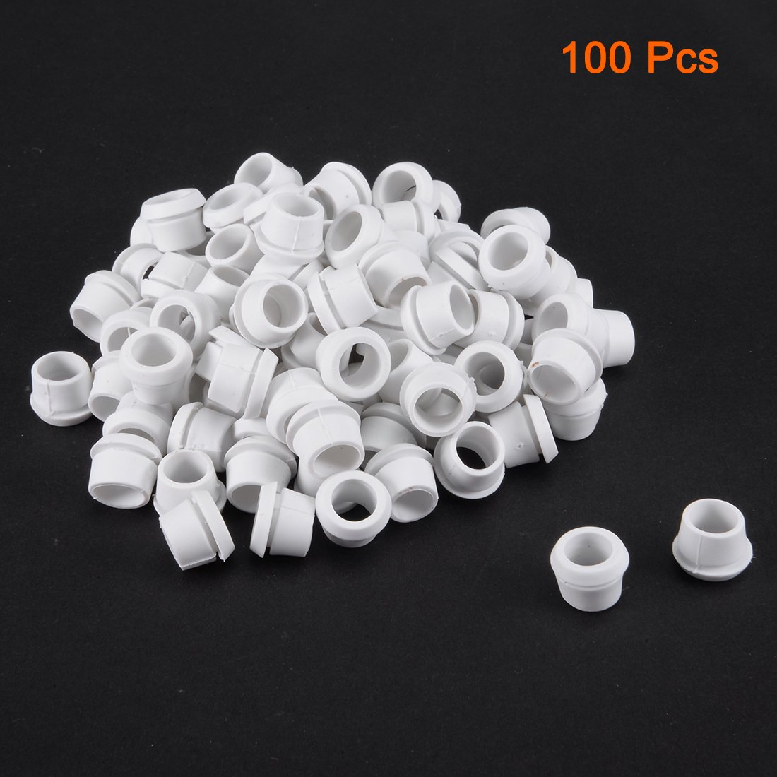 uxcell 0421 Wire Protector Oil Resistant Armature Rubber Grommets 9mm Mounting Dia Black 500 Pcs