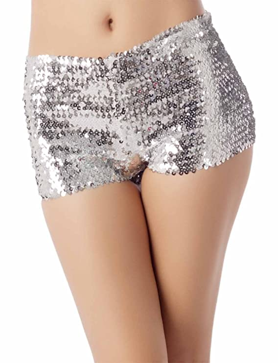 Shorts con lentejuelas colores brillantes para fiesta - Pantalones Cortos con lentejuelas para fiesta.