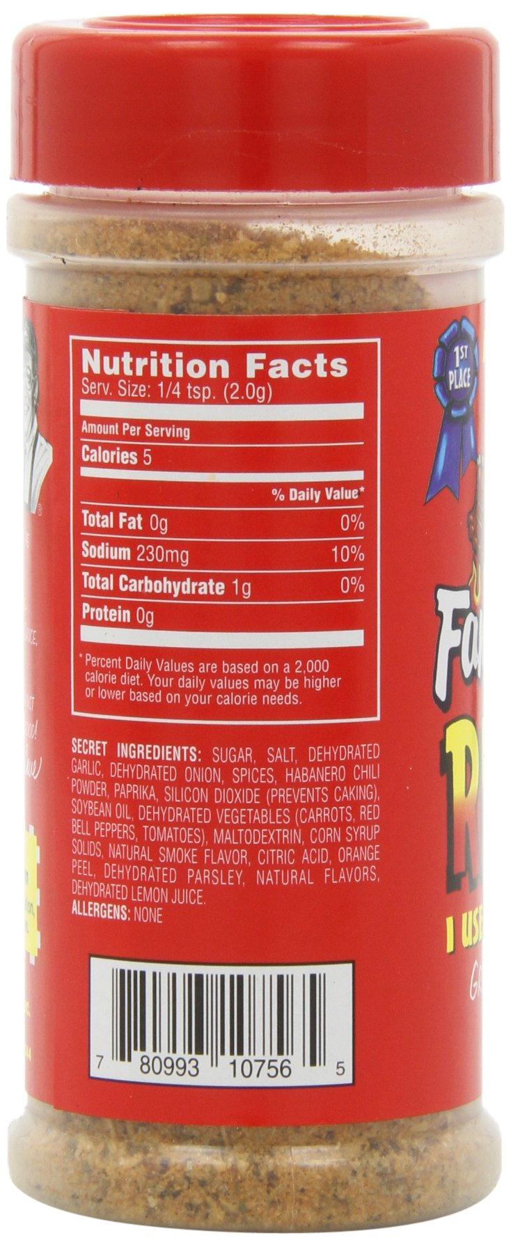 Famous Dave's Seasoning Rib Rub, 5.5-Ounce (Pack of 6) by Famous Dave's (Image #9)