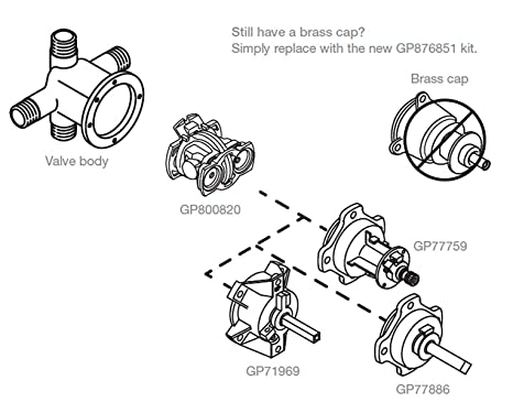 Amazon Com Kohler Part Gp800820 Rite Temp Pressure Balancing Unit