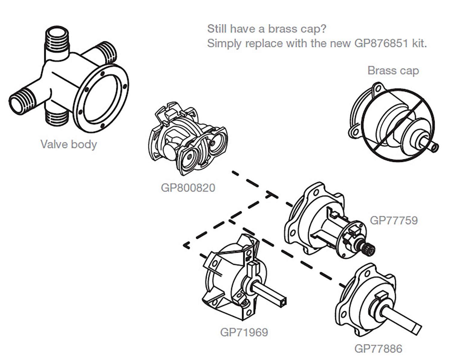 Kohler Part GP800820 Rite-Temp Pressure-Balancing Unit Cartridge, Black by Kohler (Image #6)
