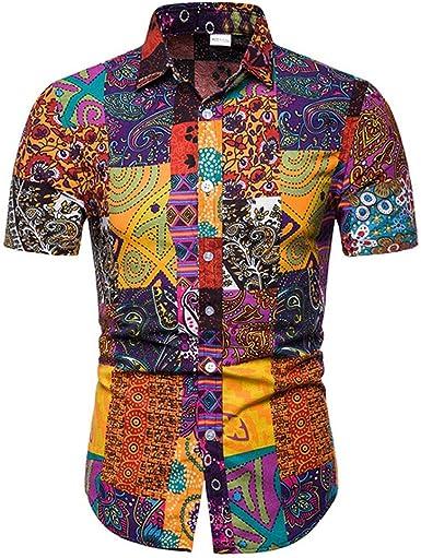 Camisa Hawaiana De Manga Corta Floral De Calidad Noble Creativa De Los Hombres: Amazon.es: Ropa y accesorios