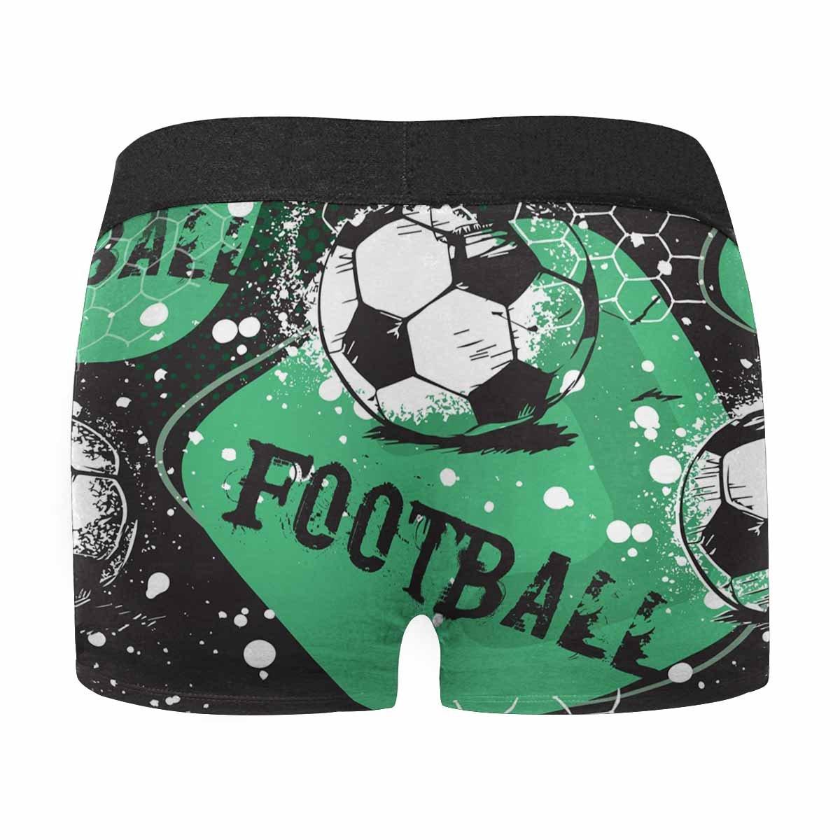 INTERESTPRINT Custom Mens Boxer Briefs Grunge Urban with Football Ball XS-3XL