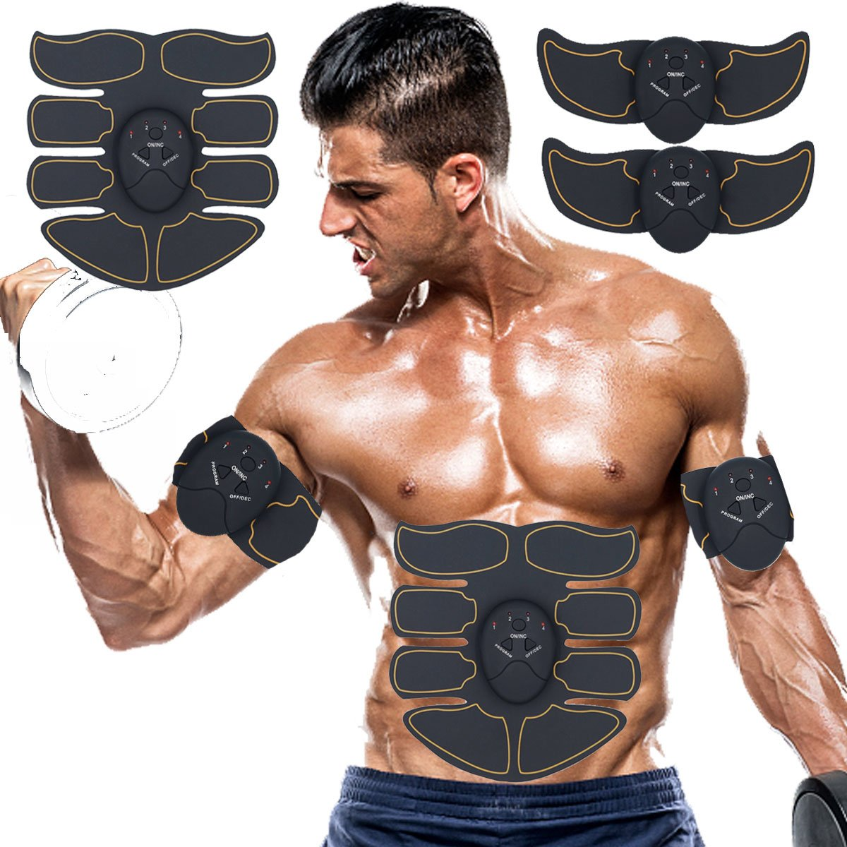 SPORTMAO Abs Stimulator Muscle Trainer Ultimate Abs Stimulator Ab Stimulator for Men Women Abdominal Work Out Ads Power Fitness Abs Muscle Training Gear Workout Equipment Portable Stimulator Abs Belt by SPORTMAO