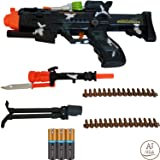 """ANJ Kids Toys - 22"""" Pretend Play Toy Guns for Boys     Combat Military Mission Toy Machine guns with Lights and Sound   Flashing, Rapid Firing and Vibrating with Strap (Age 3+, Batteries Included)"""