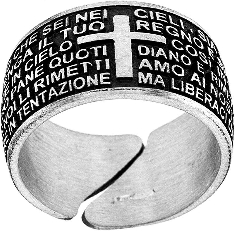 1 bracciale uomo argento 925 preghiera padre nostro silver bracelet