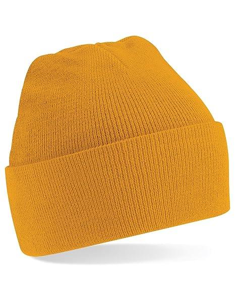 d4c1c78e Amazon.com: Beechfield Men's Original Cuffed Beanie One Size Mustard ...