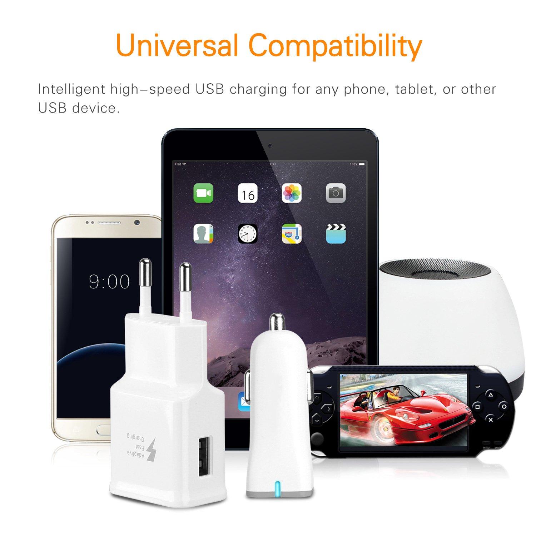 6A//40W Amuvec Cargador Doble USB Coche Carga rapida ,Quick Charge 3.0 Multi Adaptador con iP/&Tipo-C Cable Retr/áctil,para Phone X 8 Samsung Galaxy S10//S9//S8,Pixel 2xl,LG G5//G6,Huawei,Honor,Xiaomi y M/ás