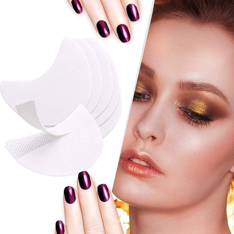 100 Pcs Eyeshadow Shields, Mixbeauty Eyeshadow Pads, Lint Free Eyeshadow Stencil For Eyelash Extensions Tinting and Lip Makeup(50 Pair