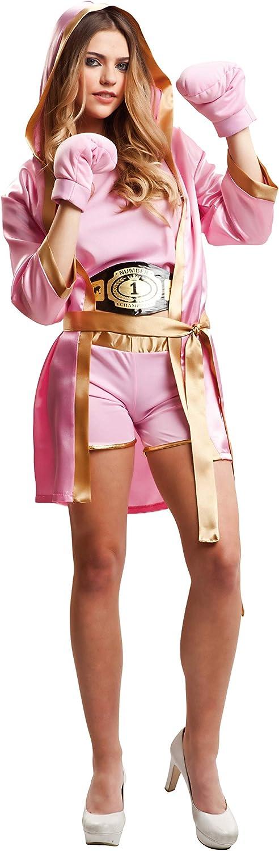My Other Me Me-203346 Disfraz de boxeadora para mujer, color rosa, M-L (Viving Costumes 203346)