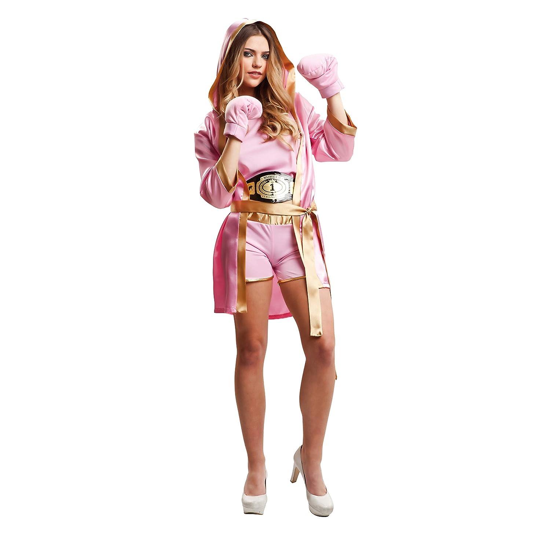My Other Me Me-203346 Disfraz de boxeadora para mujer Color rosa M-L Viving Costumes 203346: Amazon.es: Juguetes y juegos