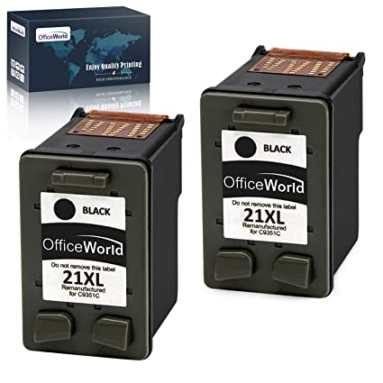 OfficeWorld Remanufacturado HP 21 21XL Negro Cartuchos de Tinta Compatible con HP Deskjet F4180 F2180 F2280 F2290 F380 F335 F390, HP Officejet 4315 ...