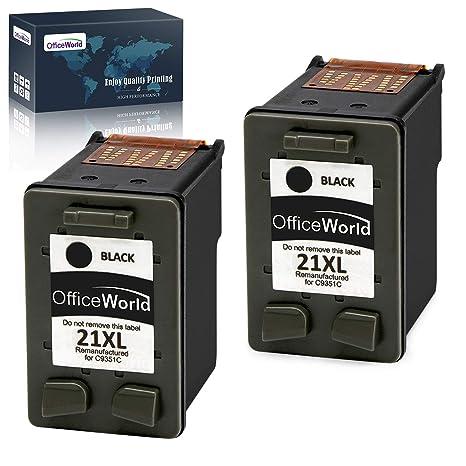 OfficeWorld Remanufacturado HP 21 21XL Negro Cartuchos de Tinta ...