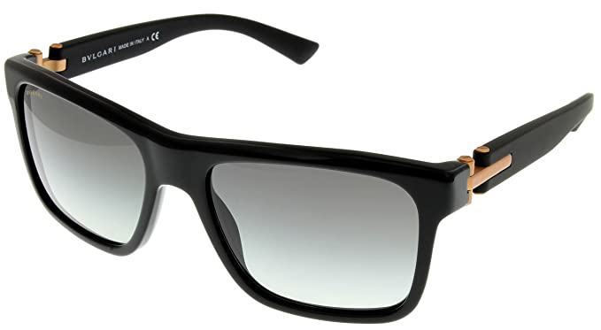 Amazon.com: anteojos de sol Bvlgari Mens Black Rectangular ...