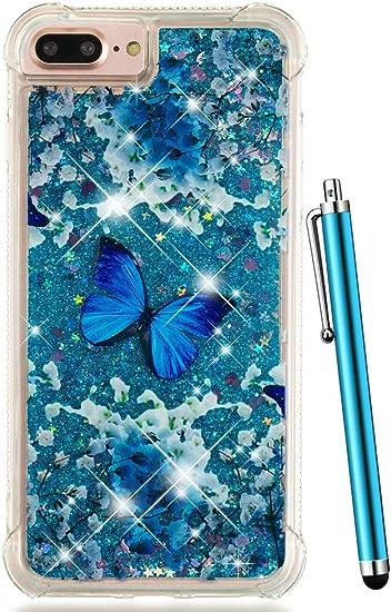 Amazon.com: Bonita funda para iPhone 8 Plus transparente con