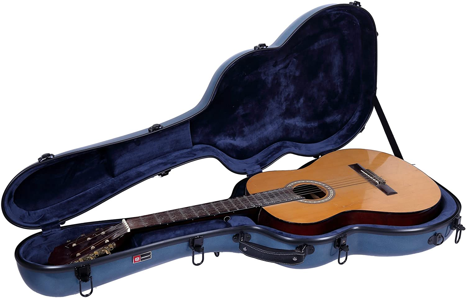 Crossrock Anti-scratch Flight Case in White Poly Carbon 4//4 Classical Guitar CRF4000CWT