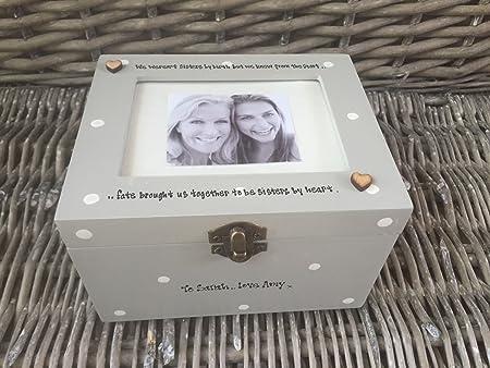 Shabby Chic estilo personalizado tamaño grande regalo especial mejor amigo amistad.. Caja de regalo marco de fotos de recuerdos para cualquier nombre que desee.., cumpleaños: Amazon.es: Hogar