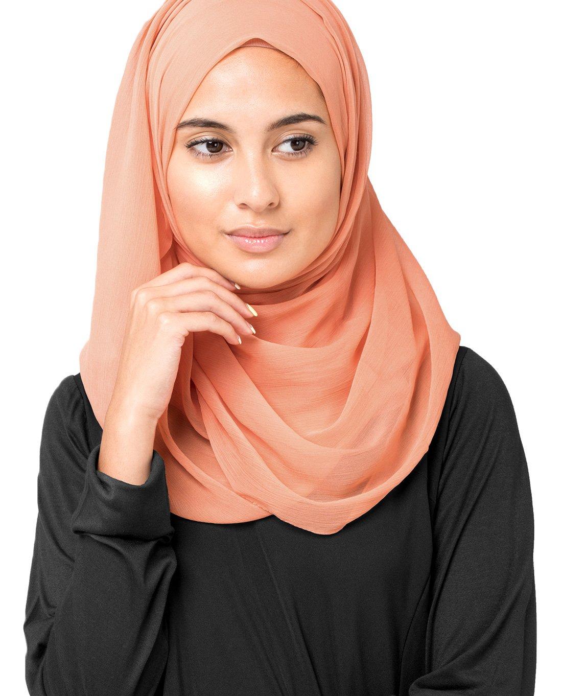 Inessence New Coral Polychiffon Scarf Ladies Wrap Maxi Size Hijab 2WHJIE01PC161519M