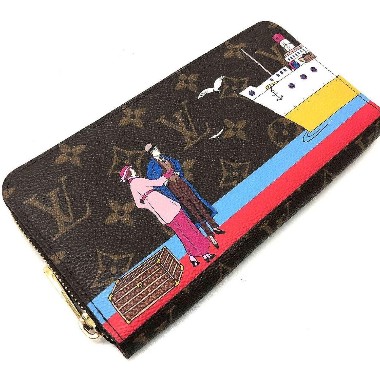 (ルイヴィトン) LOUIS VUITTON M62135 ジッピーウォレット モノグラムイリュストレ 太平洋クルーズ ラウンドファスナー長財布 長財布(小銭入れあり) モノグラムキャンバス/レディース 中古 B07FHXQCZM