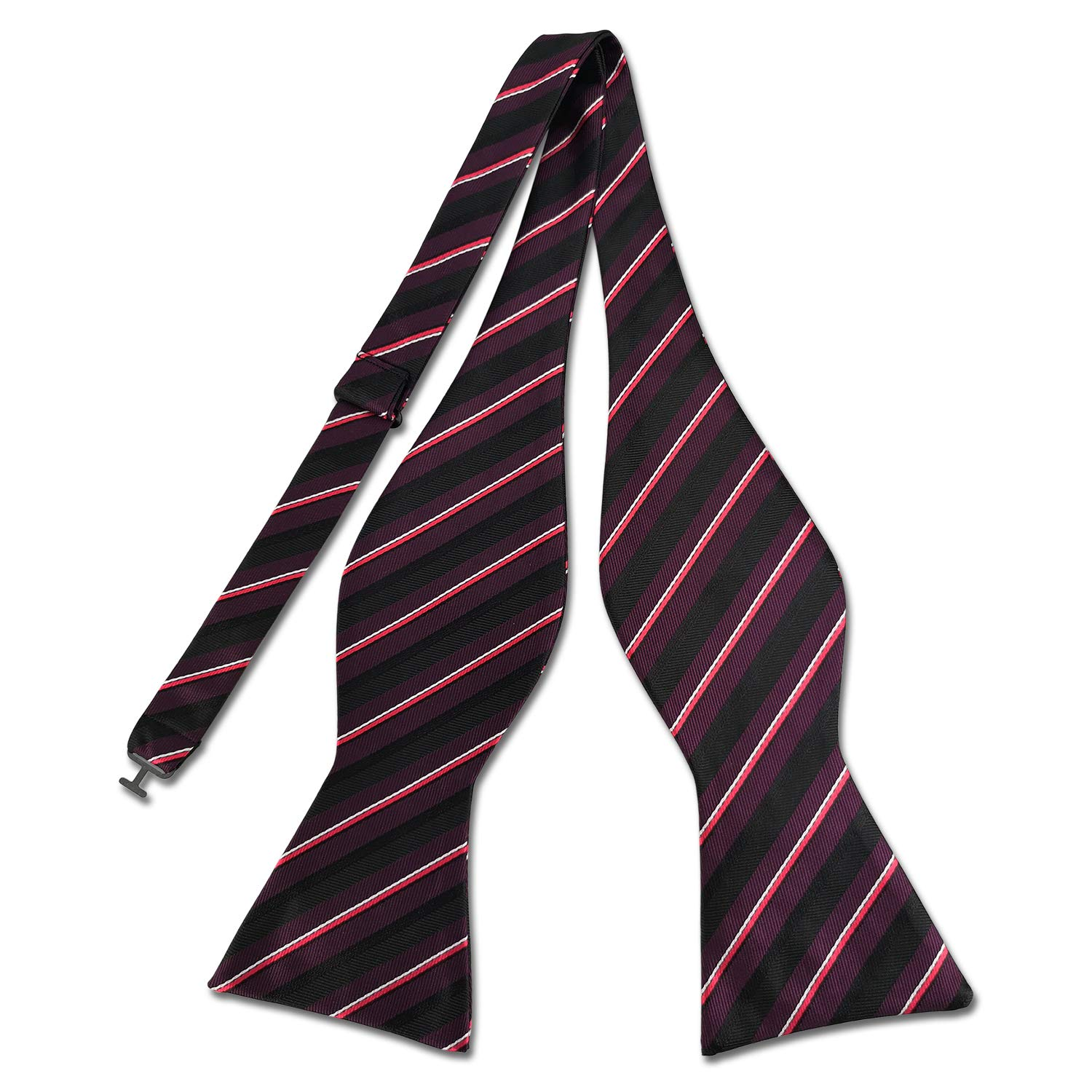 KOOELLE Striped Bowtie for Men Pinstripe Woven Self Bow Ties /& Pocket Square Set