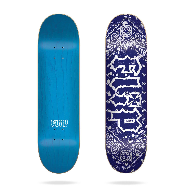 Flip HKD Bandana Blue 8.25 Skateboard Deck