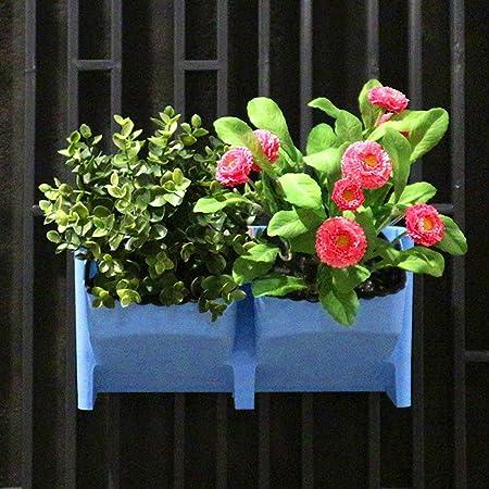 PP Maceta Apilable Colgante De Pared Vertical Planta Maceta JardíN Suculentas Bonsai Restaurante CafeteríA DecoracióN Para El Hogar,Blue,4PCS: Amazon.es: Hogar