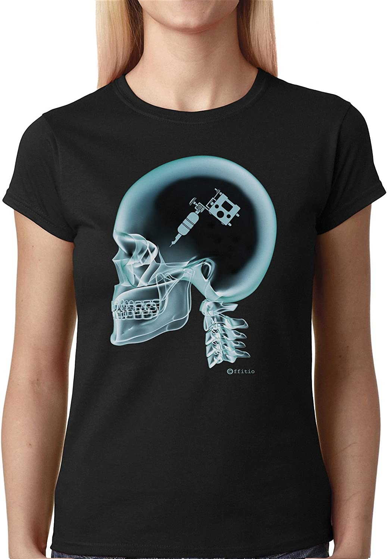 Tattoo tatuaje en el cerebro X-Ray para mujer camiseta T-Shirt ...
