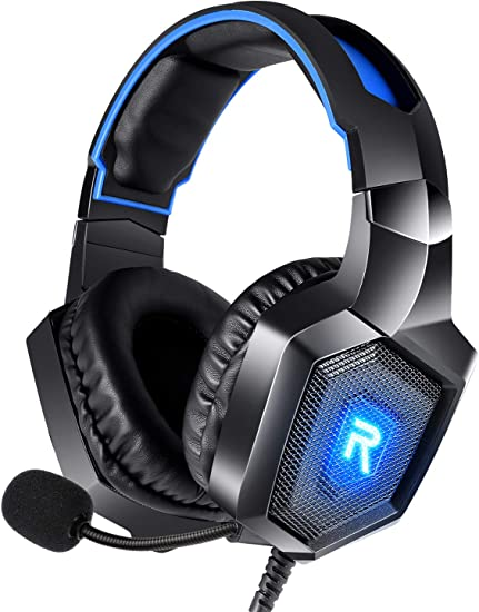 RUNMUS Gaming Headset for PS4, Xbox One, PC Headset w/ Surround Sound