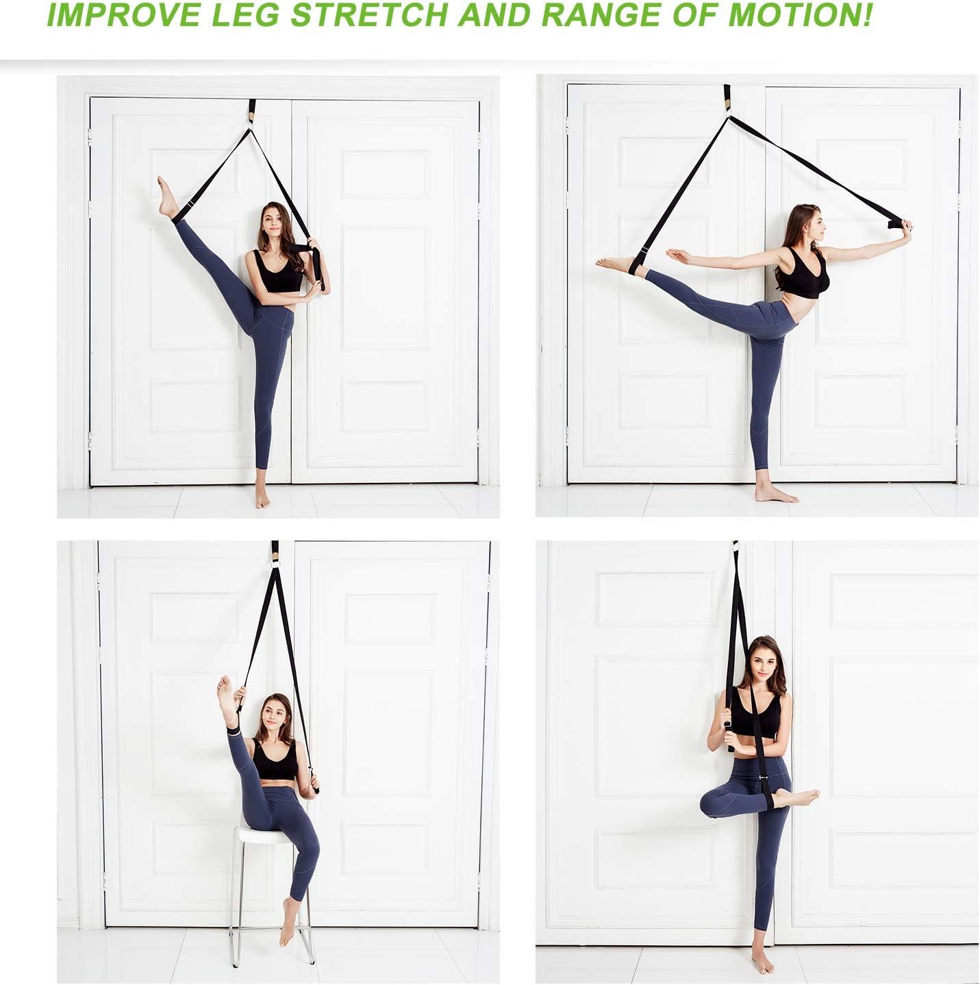 Leg Flexibility Door Stretcher Strap for Ballet Cheer Gymnastics Taekwondo Dancers with Detailed Exercise Instruction and a Portable Carry Bag UBING Leg Stretcher