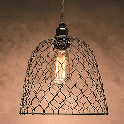 Amazon cleveland vintage lighting 30397a chicken wire shade cleveland vintage lighting 30397a chicken wire shade metal dome 10 x 825 inches keyboard keysfo Images