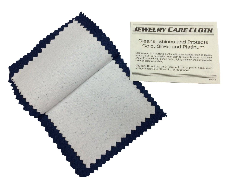 Blitz Jewelry Rouge Cloth / Polishing Cloth 6 x 8 Blue/ White Paaz Jewelry Supply J0608BW