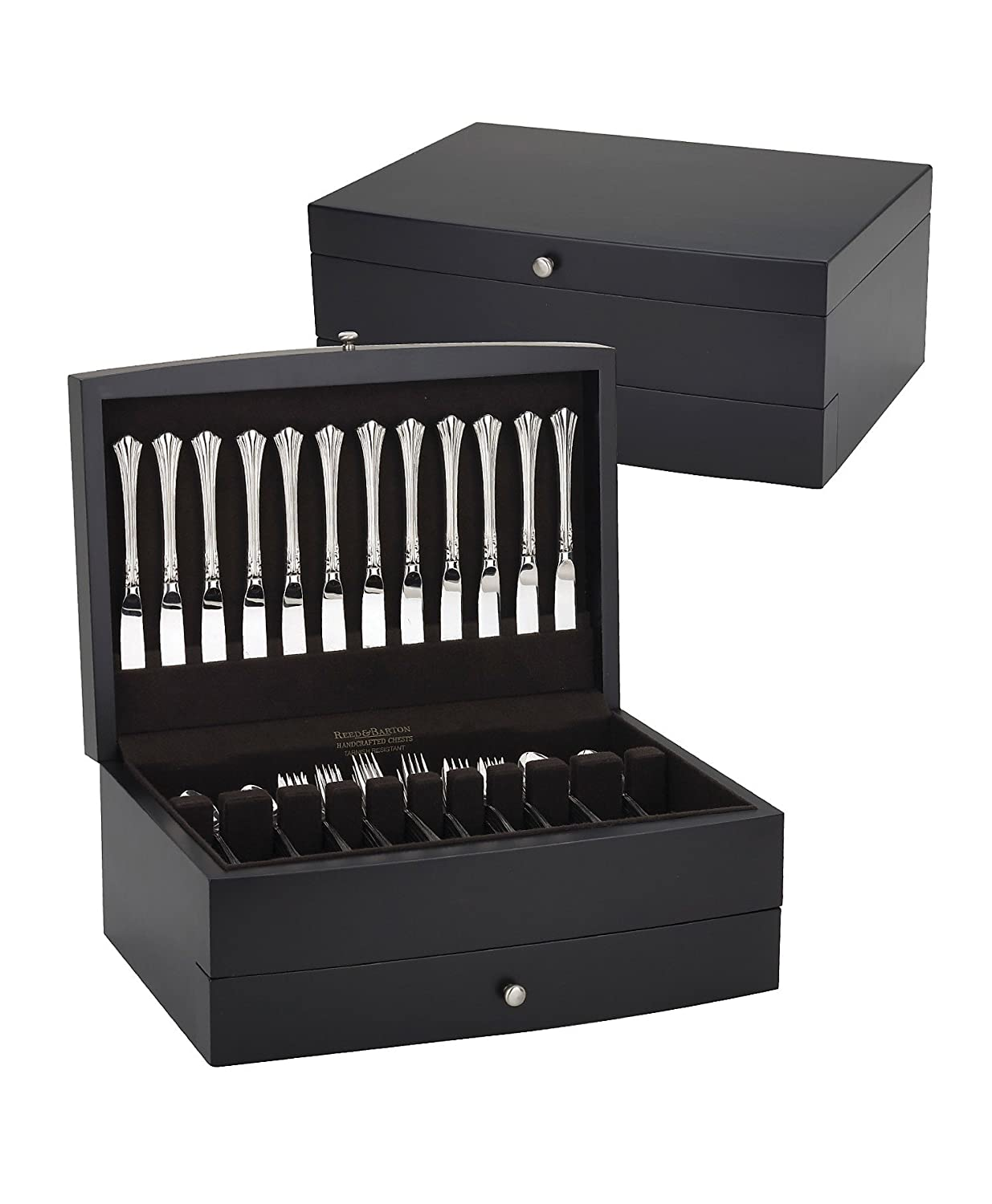 Reed & Barton Falmouth One Drawer Flatware Chest, Dark Espresso with Brown Lining Reed & Barton Flatware 573E